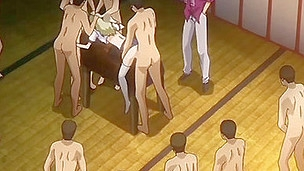 One Time u start watching this eager hentai movie u won't be able to stop enjoying the horny action in which the group of excited and kinky dudes is heavily permeating youthful babe's taut holes.
