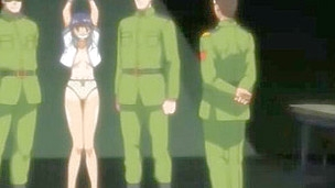 The nasty hentai chick got imprisoned by the soldiers but this babe couldn't even think about what punishment and tortures are expecting for her there- the strong males are craving for her constricted holes!