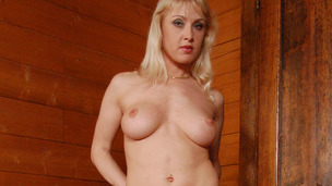 Cute golden-haired mother i`d like to fuck enjoys an anal orgasm