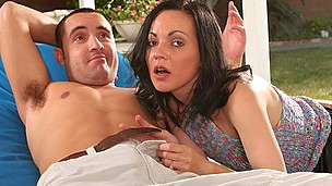 Favourable concupiscent guy puts in schlong in his mommy in law`s slit !