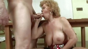 You may say about granny Renata that`s she`s a nice, precious old lady. No thing more false then that! Her big mouth is still eager for cock and that hairy cunt between her thighs gets filled just as much as it got in her youth. Renata rubs her cunt, gets