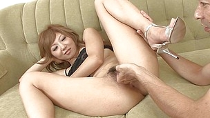 She likes getting her constricted holes exploited. This cute Asian chick gives me her body and I do what I crave with her. Look at that hairy pussy and her constricted anus, it`s somehow just fixed price for my cock inside it. I finger her as deep as I ca