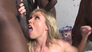 Horny HotWife Adrianna Nicole Acquires Fucked By BBCs In Front Of Her Cuckold