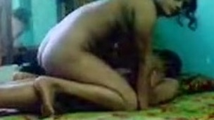 Indian lady riding dick and enjoys missionary style sex