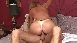 Older moms, as Darla Crane is, can likewise be hot and fucking horny! On meeting this hot youngster Seth Gamble at her place the dirty older whore drives insane and fucks the guy hard!