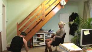 Golden-Haired mother I`d like to fuck blows and gets eaten by a juvenile stud
