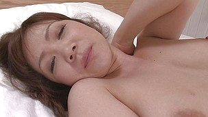 Here`s a mommy you`ll love watching! Ichika is an Asian milf with a big round booty and a bald pussy that we get to see it uncensored! She plays with her pussy for us and when she`s ready for penetration the doxy grabs a dildo and begins fucking herself.
