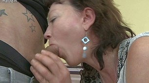 Concupiscent housewife gets fucked hard by her toyboy