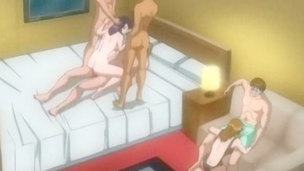 I wouldn`t recommend u to pass by those turning on hentai scenes in which the insatiable female gets damn wild and eager and feels a kind of ecstasy when being on three weenies simultaneously.