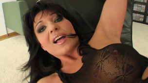 This large titted mother I`d like to fuck is dressed in all black. That Playgirl can`t live without dong and begins by devouring our guy. That Playgirl squirts like desirous as her twat gets pounded and eats some cum.