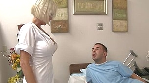 Keiran is a poor old bastard who has just lost his job, his wife, and to top it off this chab in the hospital. The doc conjures up the most excellent remedy this chab can think of to assist Keiran with his depression. Ergo later that evening Kasey the hos