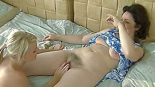 It seems Rocco Siffredi has something in his mind he wants to turn into life - he invites middle-aged hairy milf and juvenile courtesan for taking part in bringing his perverse plans to life.