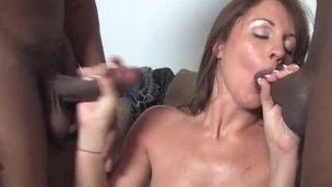 Cuck witness his wife Nikki Anne banging with two BBCs